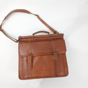 Vintage Leather Brief Case/Laptop Bag